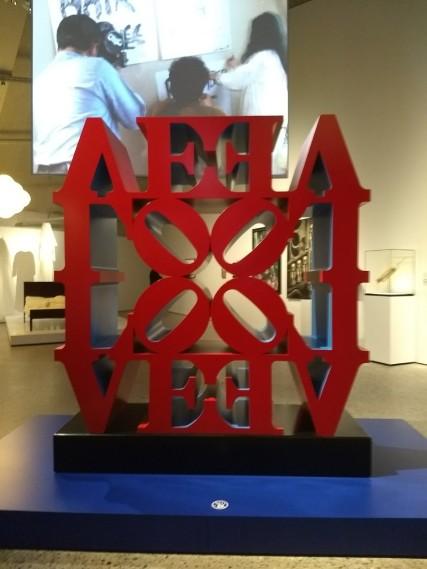 a modern art collection